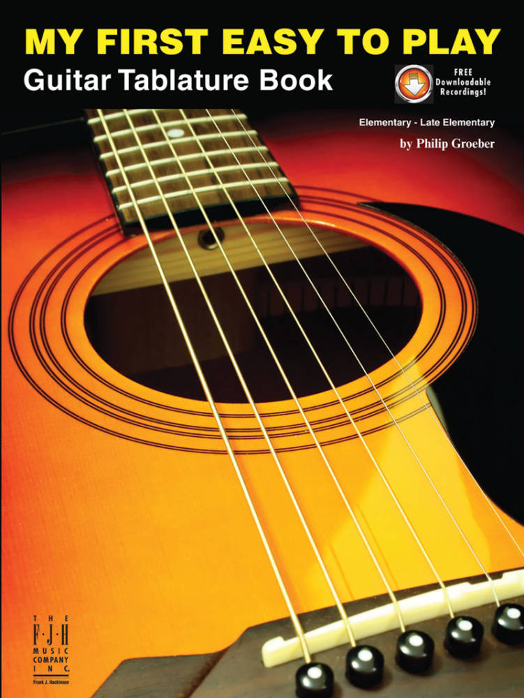 Fjh Music Company My First Easy To Play Guitar Tablature