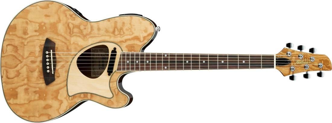ibanez talman acoustic electric hybrid guitar natural long mcquade musical instruments. Black Bedroom Furniture Sets. Home Design Ideas