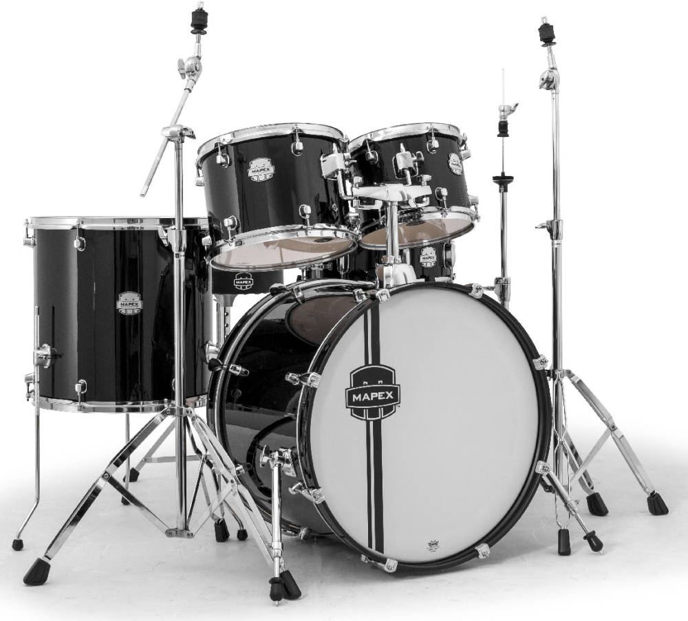 Mapex Voyager 5 Piece Rock Drum Set 22 10 12 16 Sd W Hardware