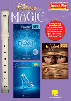 Disney Magic -- Learn & Play Recorder Pack: 3 Songbooks + Recorder - Books/Recorder