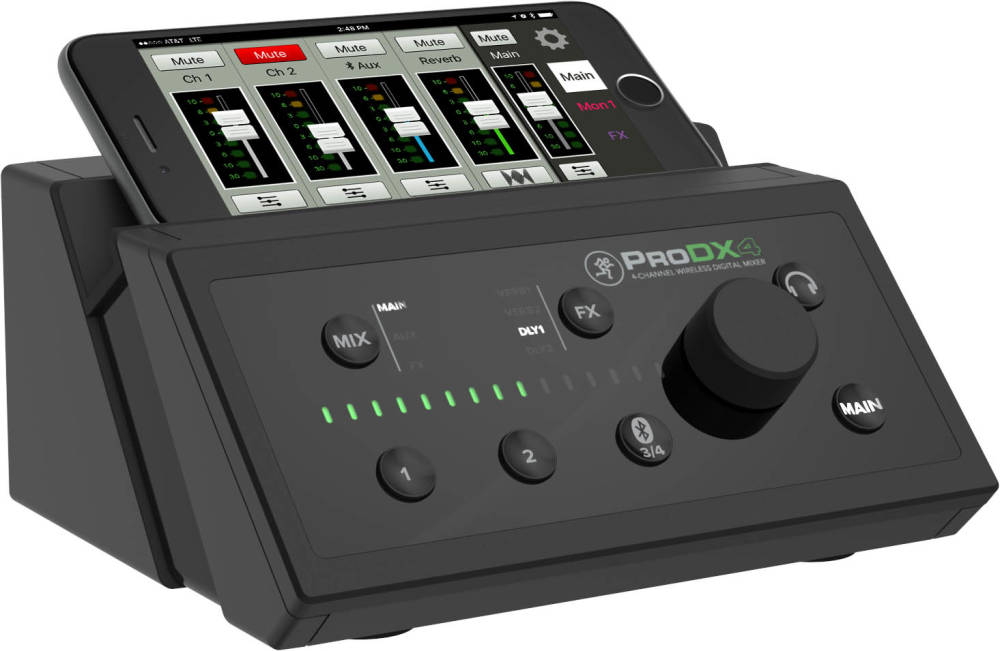 mackie prodx4 4 channel wireless digital mixer long mcquade musical instruments. Black Bedroom Furniture Sets. Home Design Ideas