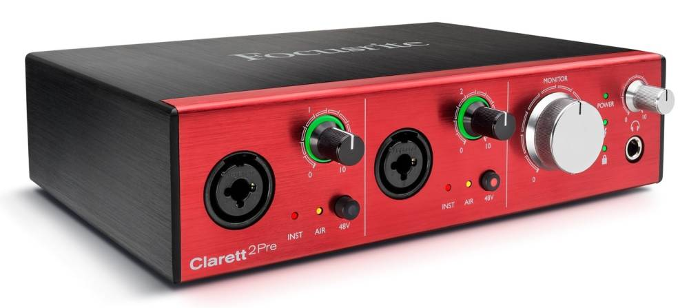 Clarett 2Pre 24 192 10 In 4 Out Thunderbolt Audio Inteface