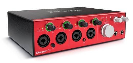 Clarett 4Pre 24/192 18-In/8-Out Thunderbolt Audio Interface