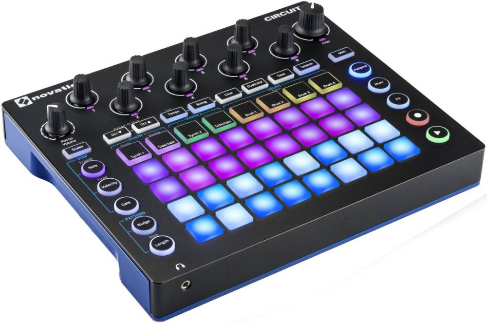 novation circuit pad based groove box long mcquade musical instruments. Black Bedroom Furniture Sets. Home Design Ideas