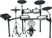 Yamaha - DTX760K 6-Piece Electronic Drum Kit + KP100 Kick Drum w/TCS Pads & Hihat Stand
