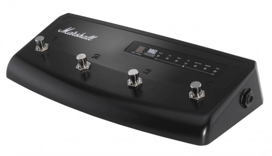 marshall 4 channel footswitch with tuner display for marshall mg series amps long mcquade. Black Bedroom Furniture Sets. Home Design Ideas