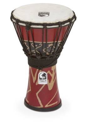 Freestyle Rope-Tuned Djembe - 7 inch - Bali Red