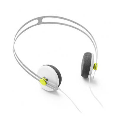 Tracks Headphones w/ One Button Mic - White