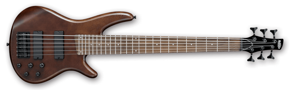 ibanez gio series 6 string bass guitar hh walnut flat long mcquade musical instruments. Black Bedroom Furniture Sets. Home Design Ideas