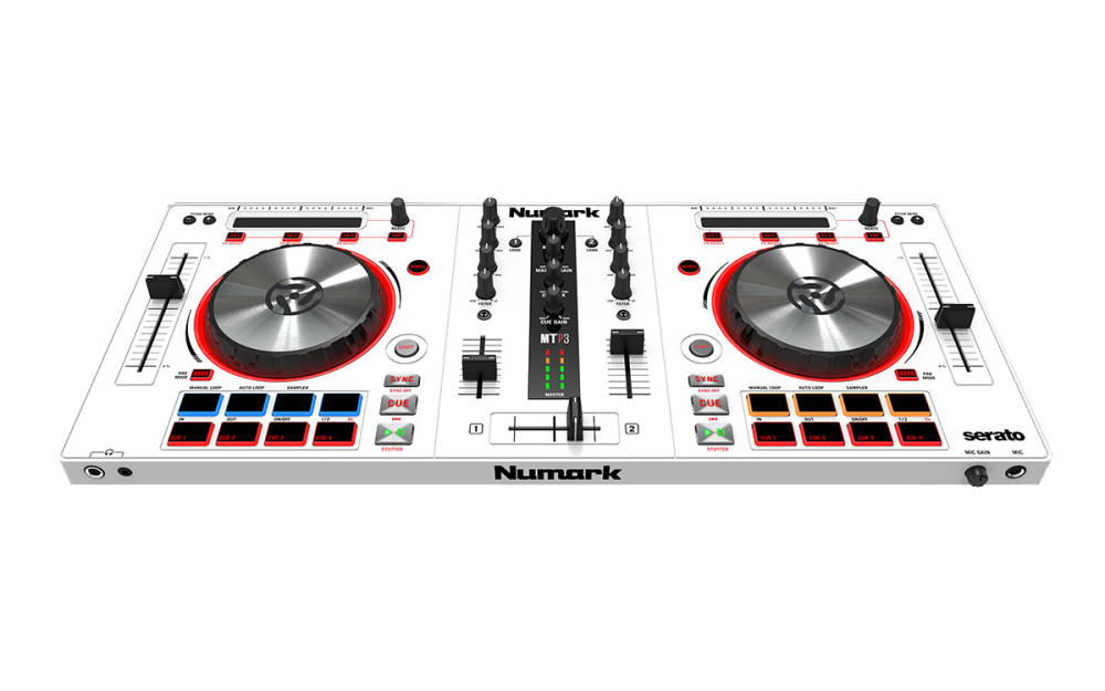 numark mixtrack pro 3 special edition dj controller for serato dj white long mcquade. Black Bedroom Furniture Sets. Home Design Ideas