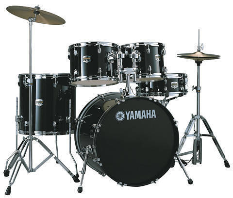 Yamaha gigmaker 4 piece drum kit with hardware black for Yamaha music school locations