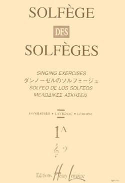 Solfege des Solfeges Vol.1A (Without Piano) - Lavignac - Voice - Book