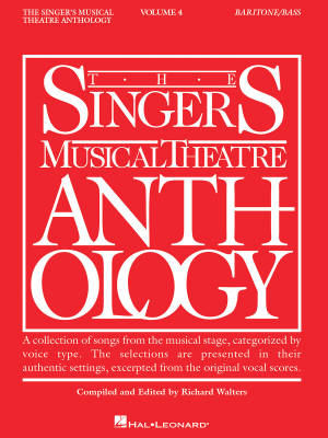 The Singer's Musical Theatre Anthology Volume 4 - Walters - Baritone/Bass Voice - Book