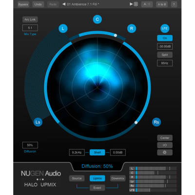 Halo Upmix - Stereo to 5.1 and 7.1 Upmixer - Download