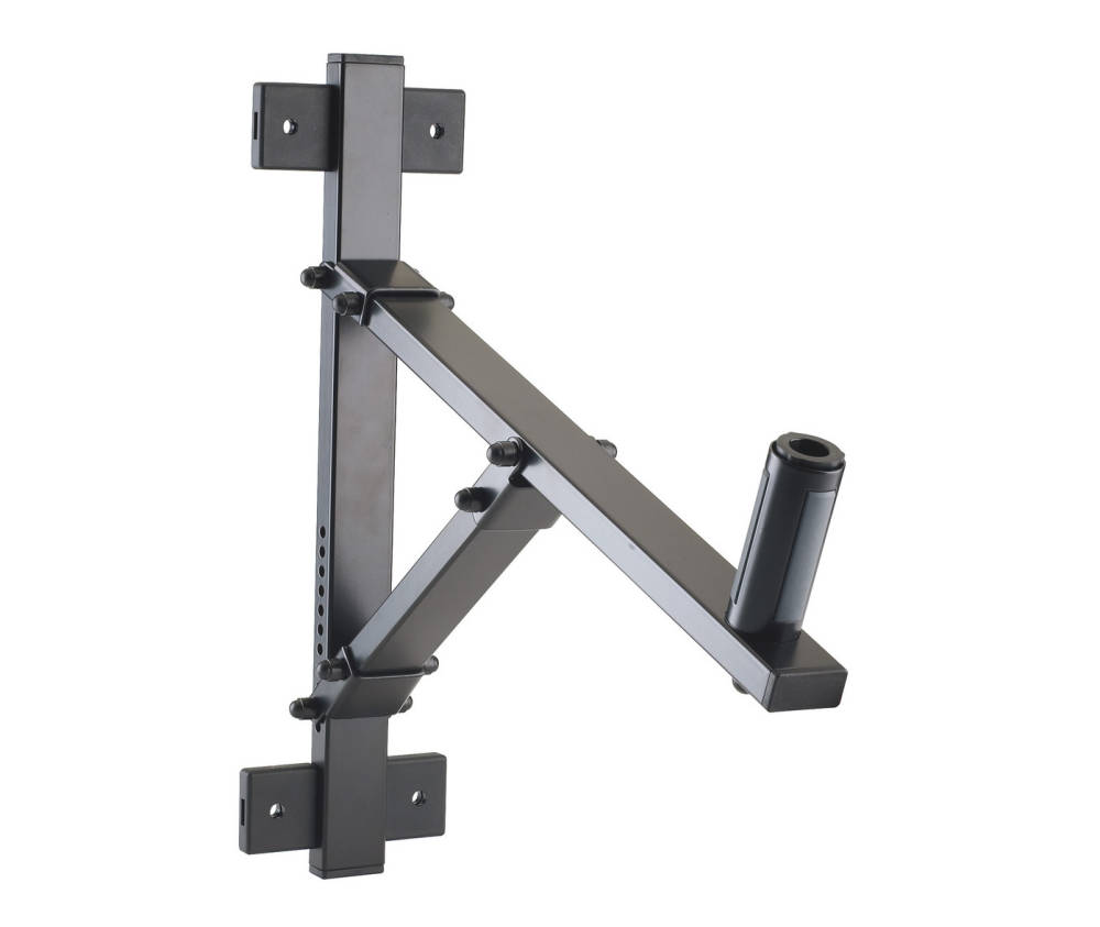 K Amp M Stands Adjustable Speaker Wall Mount Black Long