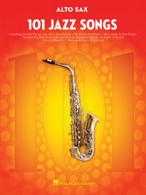 101 Jazz Songs for Alto Saxophone - Book