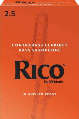 Contrabass Clarinet Reeds, Strength 2.5, 10-pack