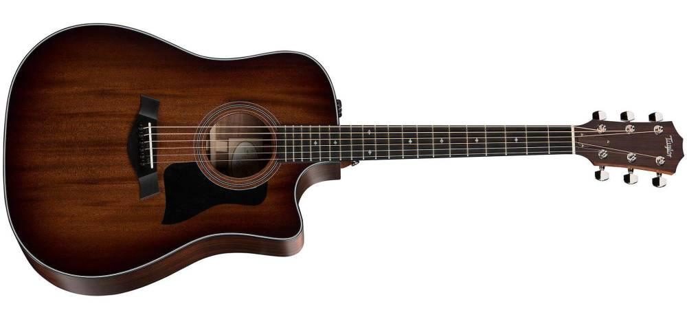 taylor guitars dreadnought mahogany sapele acoustic electric w cutaway long mcquade musical. Black Bedroom Furniture Sets. Home Design Ideas