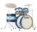 Tama - Silverstar 5-Piece Shell Pack 22,10,12,16,Snare w/Chrome - Jet Blue