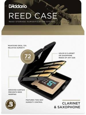 Reed Case with Humidity Control for Alto Sax & Clarinet Reeds