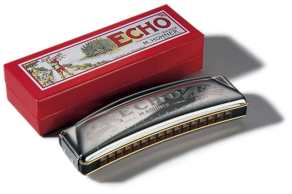 hohner echo 32 octave harmonica 16 hole tremolo key of g long mcquade musical instruments. Black Bedroom Furniture Sets. Home Design Ideas