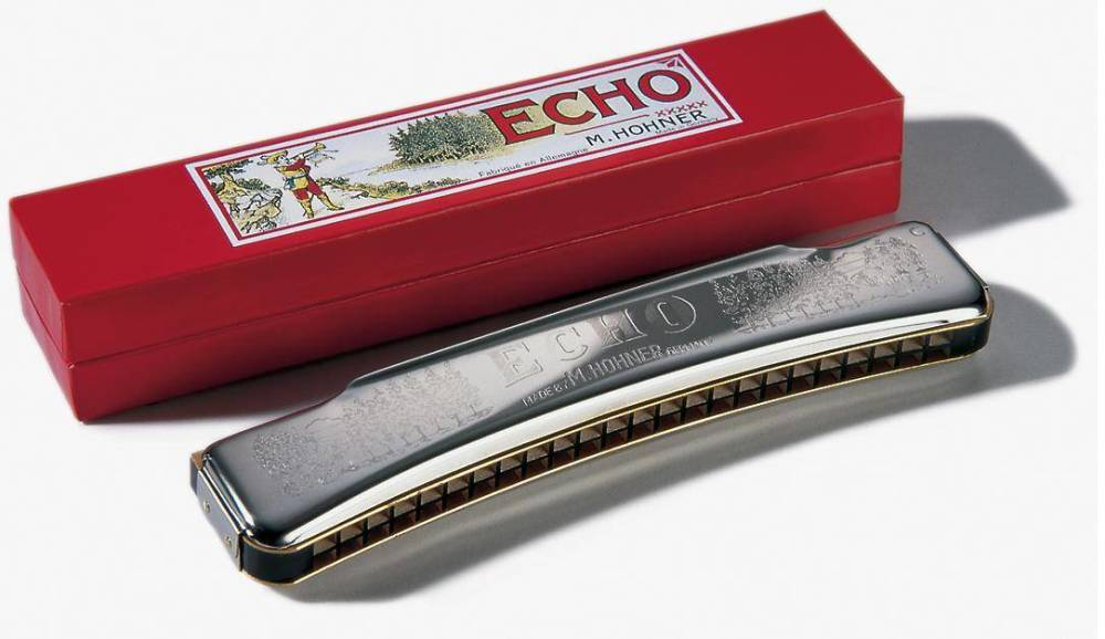 hohner echo 48 octave harmonica 24 hole tremolo key of c long mcquade musical instruments. Black Bedroom Furniture Sets. Home Design Ideas