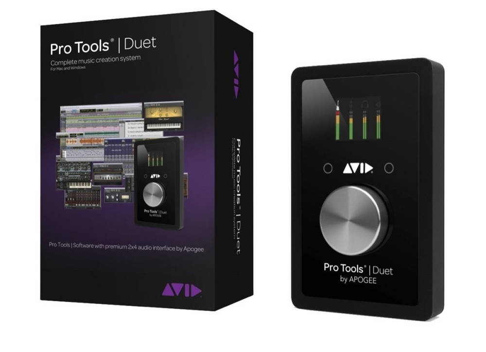 avid pro tools duet audio interface w 1 year subscription long mcquade musical instruments. Black Bedroom Furniture Sets. Home Design Ideas