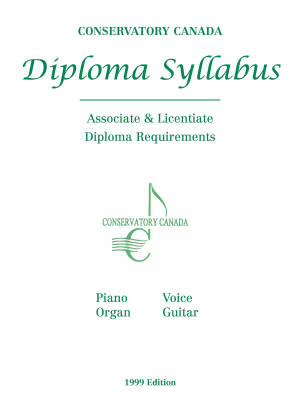 Diploma Syllabus: Associate & Licentiate Diploma Requirements - Piano/Organ/Voice/Guitar - Book