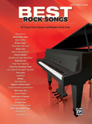 Best Rock Songs - Piano/Vocal/Guitar - Book