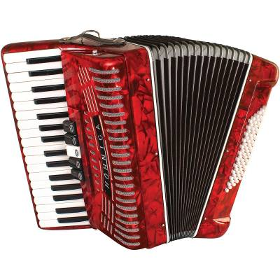 Hohnic 72 Bass Piano Accordion Red