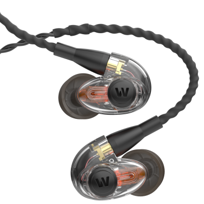 Single Driver, Ambient Port In-Ear Monitors - Clear/Black