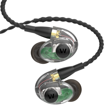 Triple Driver, Ambient Port In-Ear Monitors - Clear/Black