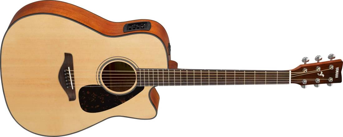 yamaha acoustic electric guitar with solid sitka spruce top long mcquade musical instruments. Black Bedroom Furniture Sets. Home Design Ideas