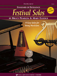 Standard of Excellence: Festival Solos, Book 1 - Pearson/Elledge - Tenor Saxophone - Book/CD