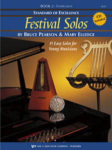 Standard of Excellence: Festival Solos, Book 2 - Pearson/Elledge - Baritone Saxophone - Book/CD