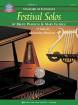 Kjos Music - Standard of Excellence: Festival Solos, Book 3 - Pearson /Elledge /Hagedorn - Percussion - Book/Audio Online