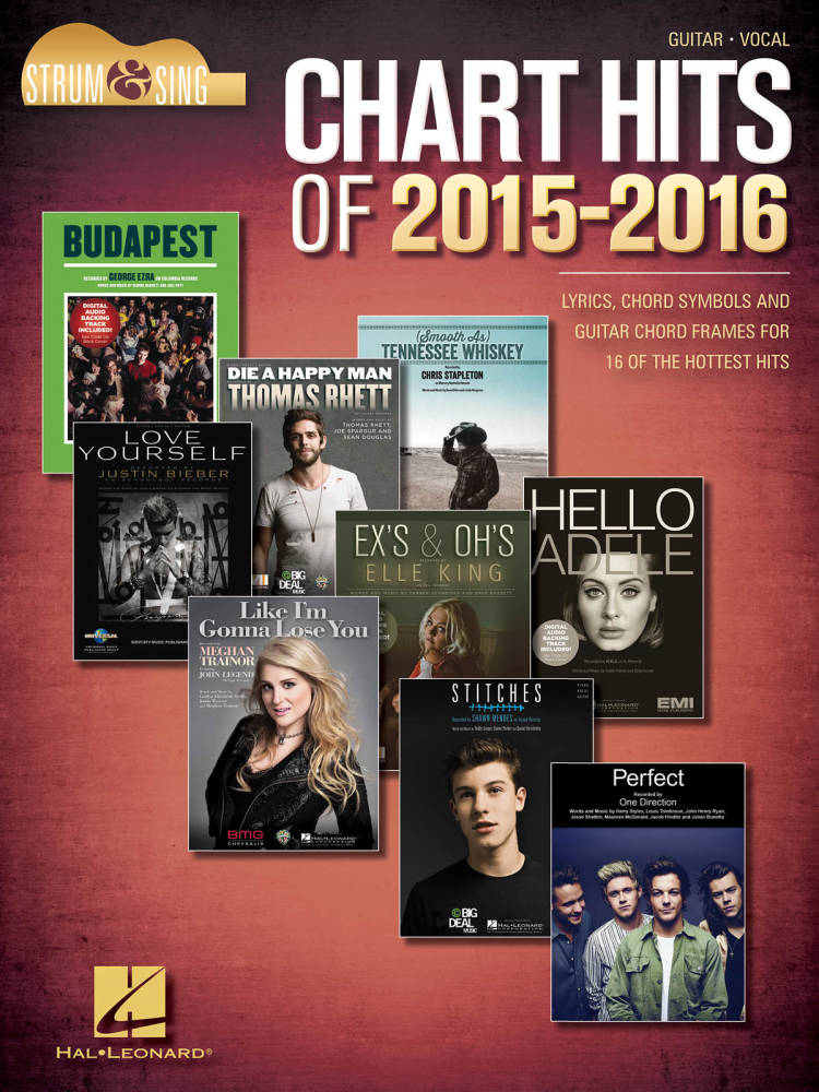 Hal Leonard Chart Hits Of 2015 2016 Lyricschordsguitar Book