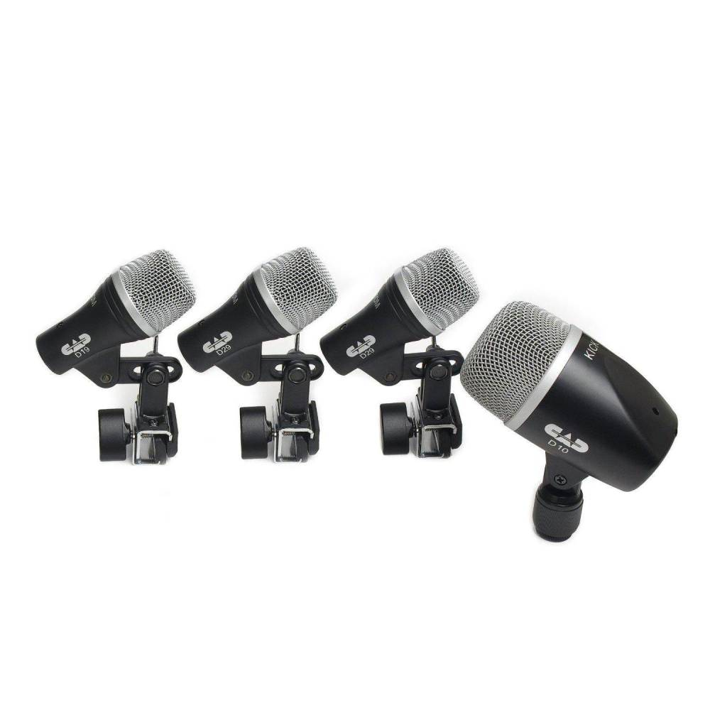 cad audio 4 piece drum microphone pack long mcquade musical instruments. Black Bedroom Furniture Sets. Home Design Ideas