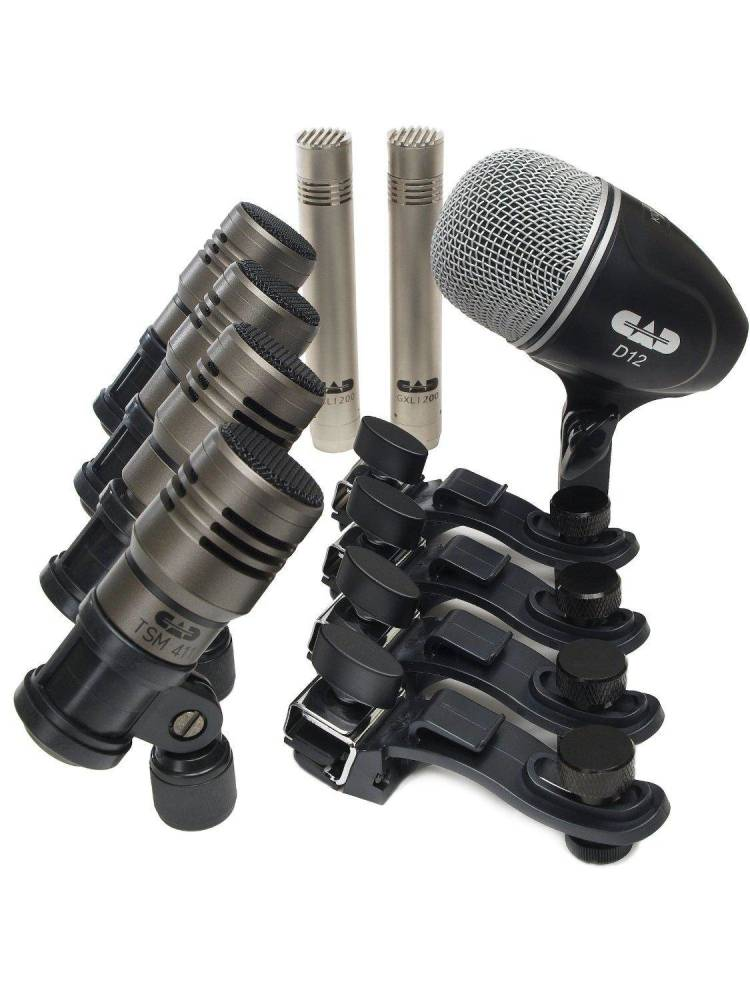 cad audio 7 piece professional drum mic pack long mcquade musical instruments. Black Bedroom Furniture Sets. Home Design Ideas