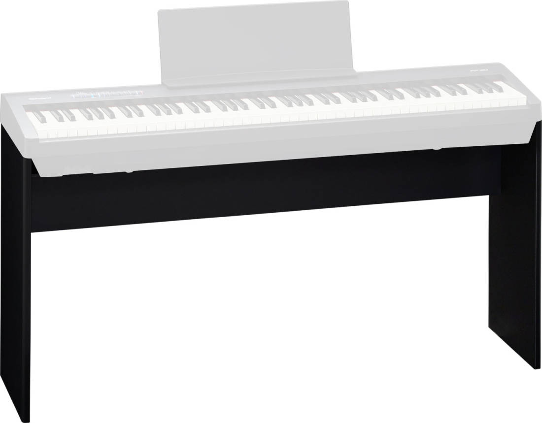 roland black piano stand for fp 30 bk long mcquade musical instruments. Black Bedroom Furniture Sets. Home Design Ideas