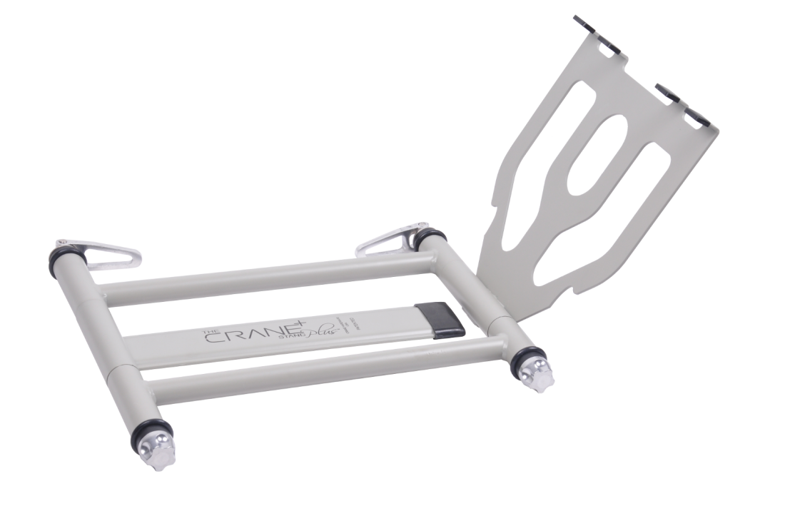 Crane Hardware Stand Plus Folding Laptop Stand White
