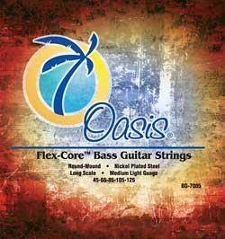 Flex Core Nickel Plated 4-String Bass Guitar Strings