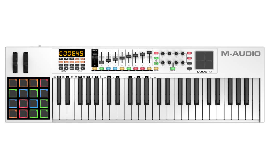 m audio 49 note keyboard controller long mcquade musical instruments. Black Bedroom Furniture Sets. Home Design Ideas