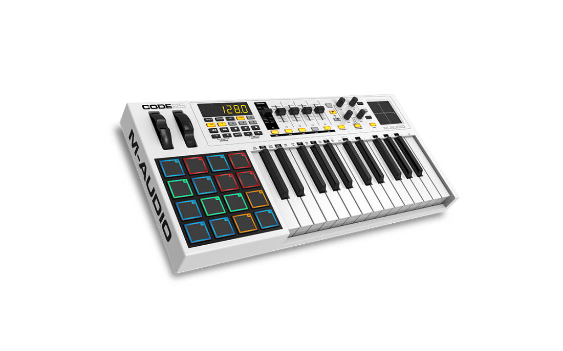 m audio 25 note keyboard controller long mcquade musical instruments. Black Bedroom Furniture Sets. Home Design Ideas