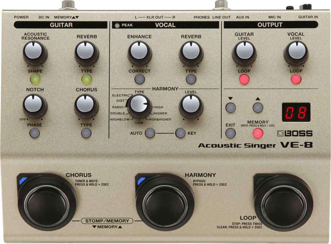 Roland - VE-8 Acoustic Singer Vocal Processor