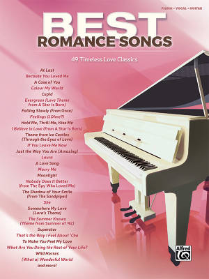 Best Romance Songs - Piano/Vocal/Guitar - Book