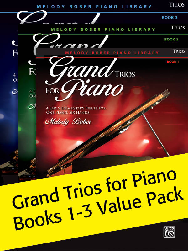 Alfred Publishing Grand Trios For Piano Books 1-3 (Value Pack