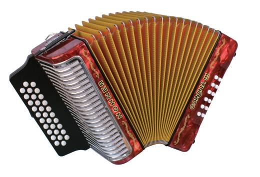 Corona III Diatonic Accordion A/D/G - Black