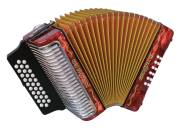 Hohner - Corona III Diatonic Accordion G/C/F - Red