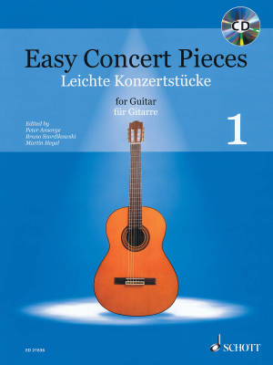 Easy Concert Pieces: Volume 1 -  Classical Guitar - Book/CD